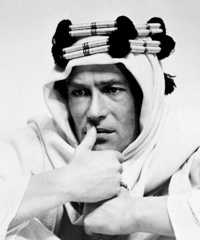 Peter O'Toole in Lawrence of Arabia (1962).