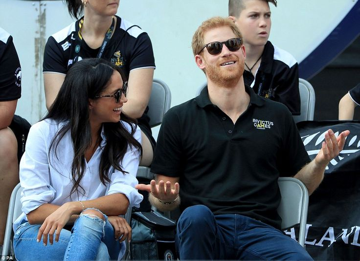 Joker Harry threw royal formality aside and made sure he kept his actress love amused duri...