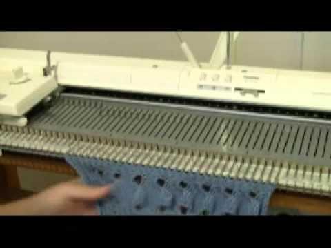 азиатский колосок Machine Knit Fern Lace Demo by Diana Sullivan