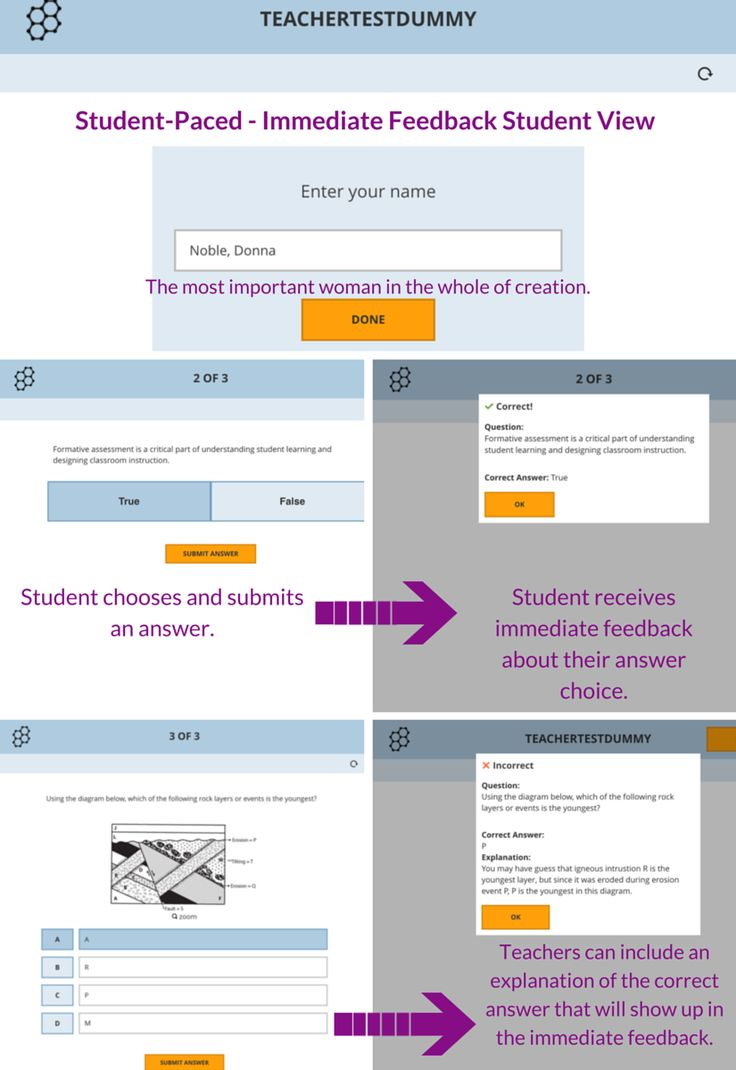 providing specific and immediate feedback to students is important what are some ways students can r Classroom assessment techniques (cats) are generally simple, non-graded, anonymous, in-class activities designed to give you and your students useful feedback on the teaching-learning process as it is happening.