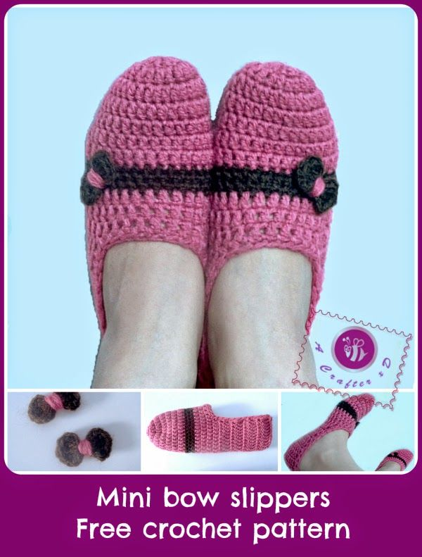 My simplest type of crochet slippers pattern, great for beginners:http://www.mazkwok.com/2014/05/mini-...t-pattern.htmlEnjoy xD