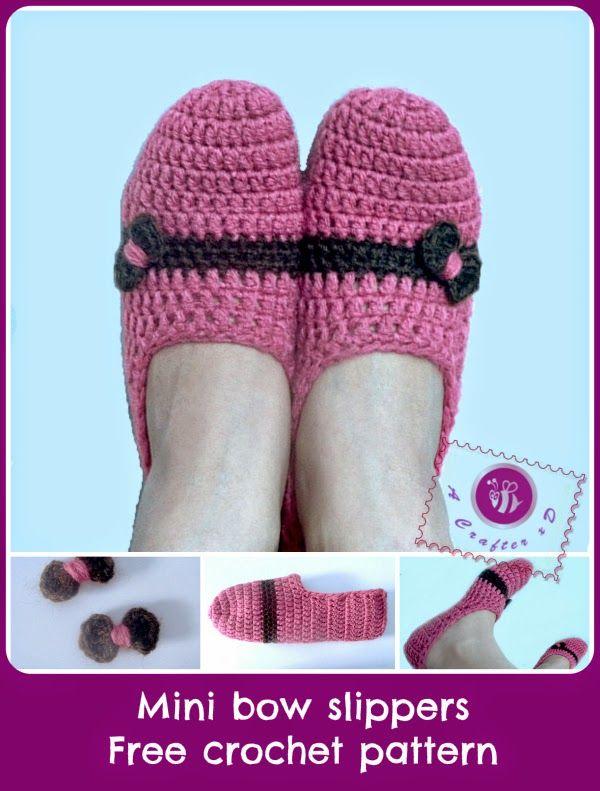 My simplest type of crochet slippers pattern, great for beginners:http://www.mazkwok.com/2014/05/mini-...t-pattern.htmlEnjoy xD