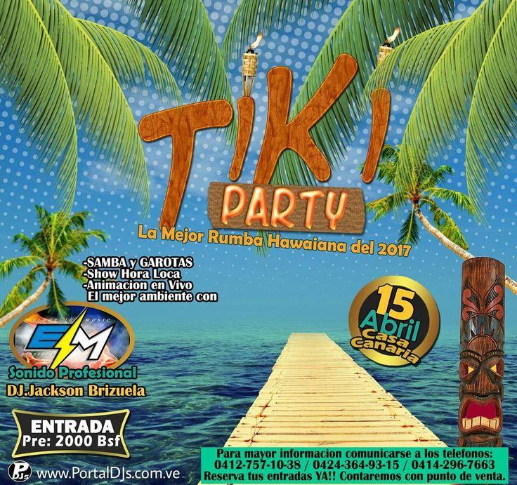Gente rumbera de #altagraciadeorituco  este 15 de Abril en la Casa Canaria no te puedes perder lo que sera la mejor rumba Hawaiana del 2017!!   TIKI PARTY  - SAMBA - GAROTAS -ANIMACION EN VIVO -SHOW HORA LOCA - CONCURSOS Y MAS!! CON EL SONIDO #ElectriMusic bajo el mando de la buena musica de @djjacksonbrizuela  desde #SanJuanDeLosMorros !!! RESERVA TU ENTRADA POR LOS NÚMEROS TELEFÓNICOS QUE ESTÁN EN LA IMAGEN!! PRONTO MAS INFORMACIÓN Y RIFAS DE ENTRADAS POR NUESTRA CUENTA DE INSTAGRAM AQUI…