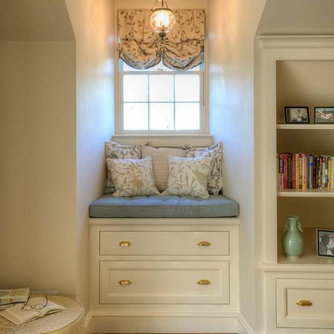 Crown point cabinetry built in reading nooks case goods Built in reading nook