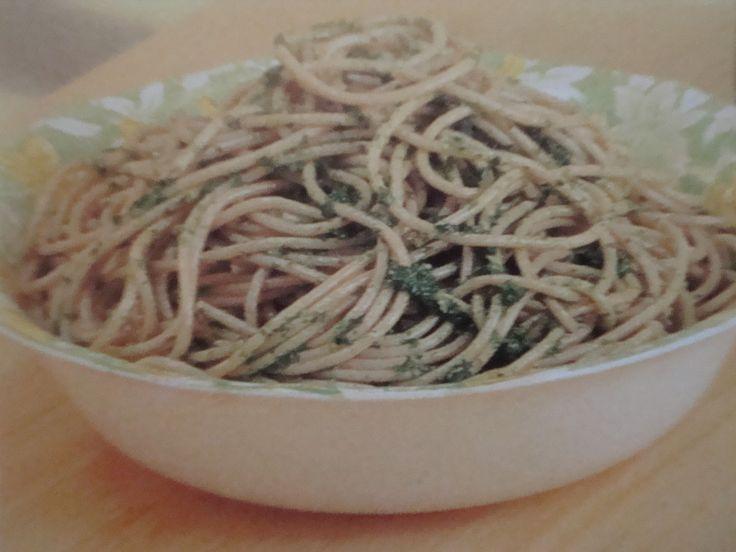 Spaghetti with 3 Herbs Sauce