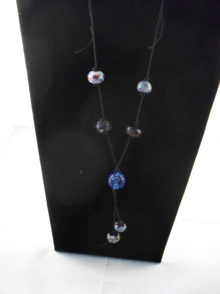 Brilliantly blue handmade beads