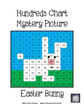 FREE! Easter Bunny Hundreds Chart Mystery Picture - This is a fun worksheet for students to practice place value and recognizing colors and numbers on a hundreds chart. Use the key to color in the boxes and reveal a hidden picture! Great activity for spring and Easter!