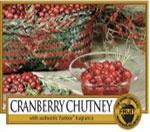 """Cranberry Chutney  Il mirtillo rosso """"Cramberry"""" cresce in zone paludose dell'America, le grosse bacche rosse maturano in autunno, sono aromatiche e adatte per preparare marmellate.  In America la salsa di cramberry viene usata nel giorno del ringraziamento."""