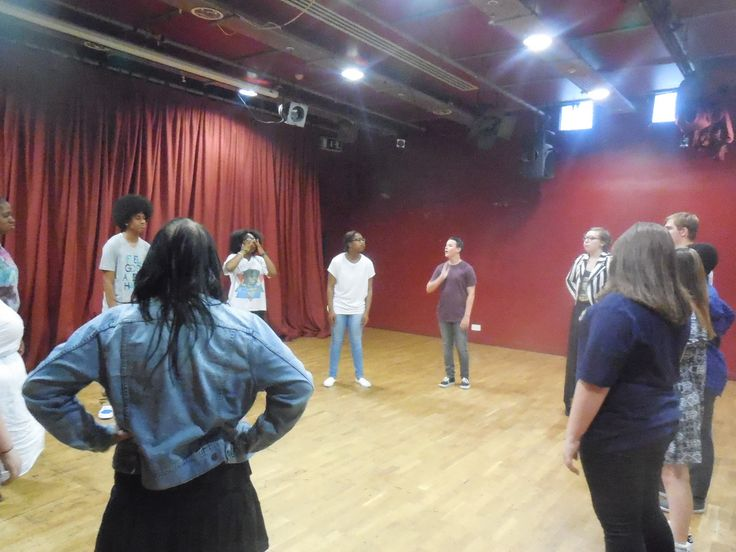 The Power of Youth rehearsals.