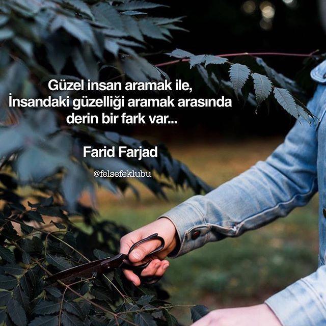 ✔Gözəl insan axtarmaq ilə, insandakı gözəlliyi axtarmaq arasında dərin bir fərq var... #Farid_Farjad