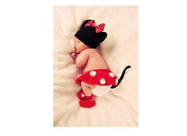 미니 마우스 아기 손뜨개 옷 : AbleJ #baby #cute