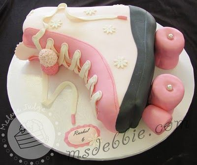 Roller Skate Cake   Would be cute for derby