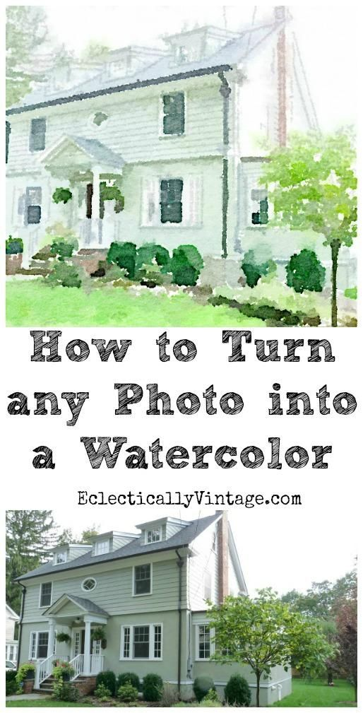 How to turn any photo into a watercolor - no art skills required!