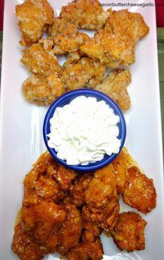 Copycat Wingstop Wings!  These are Garlic Parmesan and Mango Habanero!  Darn…