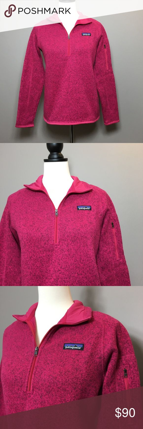 Patagonia Better Sweater in Craft Pink Brand new with tags attached.  1/4 zip Womens Better Sweater pullover in Craft Pink Patagonia Sweaters