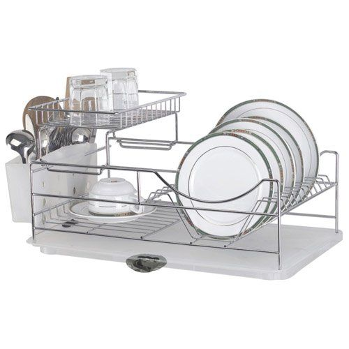 Amazon #2 - this one looks really good. Sakura Two-tiers Compact Dish Rack / Kitchenware Dish Drying Rack / Dish Drainer with Removable Plastic Tray and Extendable Stainless Steel Drip Tray, Iron with Chrome Finished, Easy to Assemble Sakura http://smile.amazon.com/dp/B00713UT0K/ref=cm_sw_r_pi_dp_XBBiub0A0D4BW