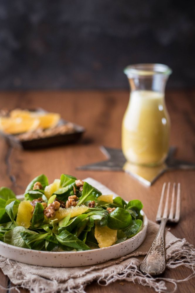 Feldslat mit Orangenvinaigrette © Kleines Kulinarium