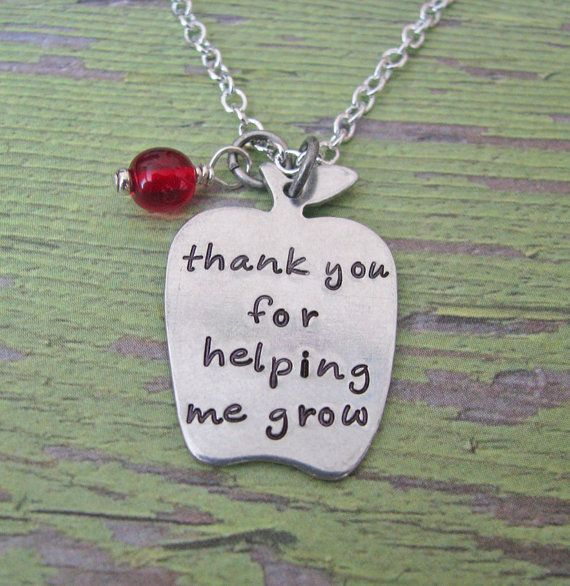thank you for helping me grow hand stamped teacher by juliethefish