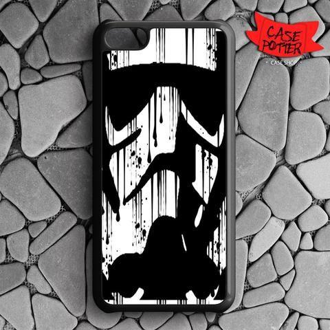 Black White Storm Trooper iPhone 5C Black Case