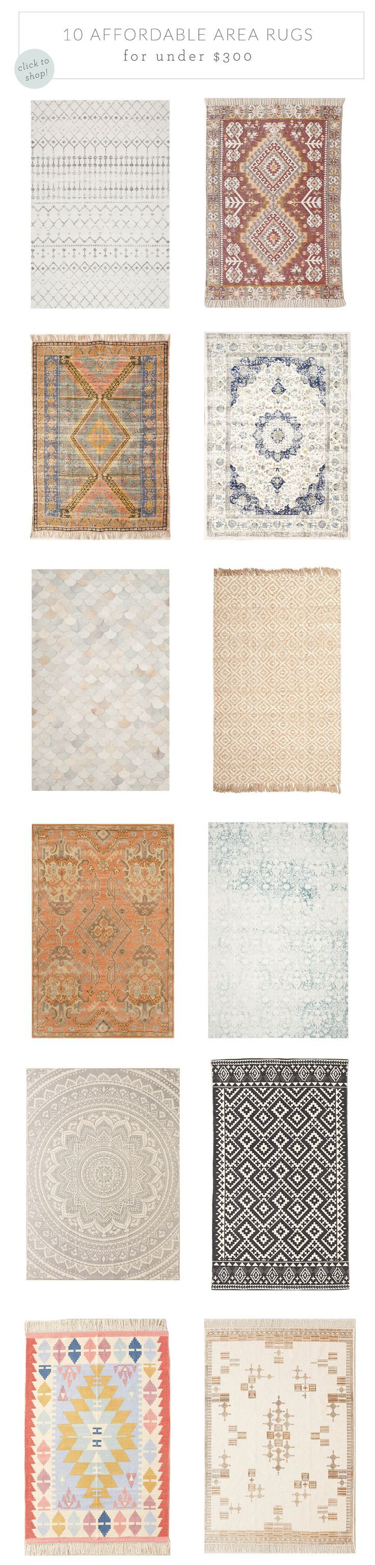 10 Affordable Area Rugs for Under $300 | Advice from a Twenty Something