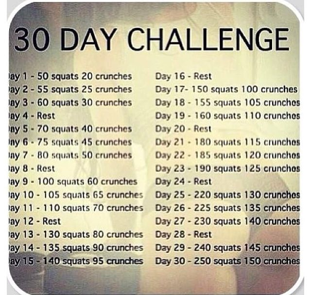 Challenge yourself to a 30 day workout