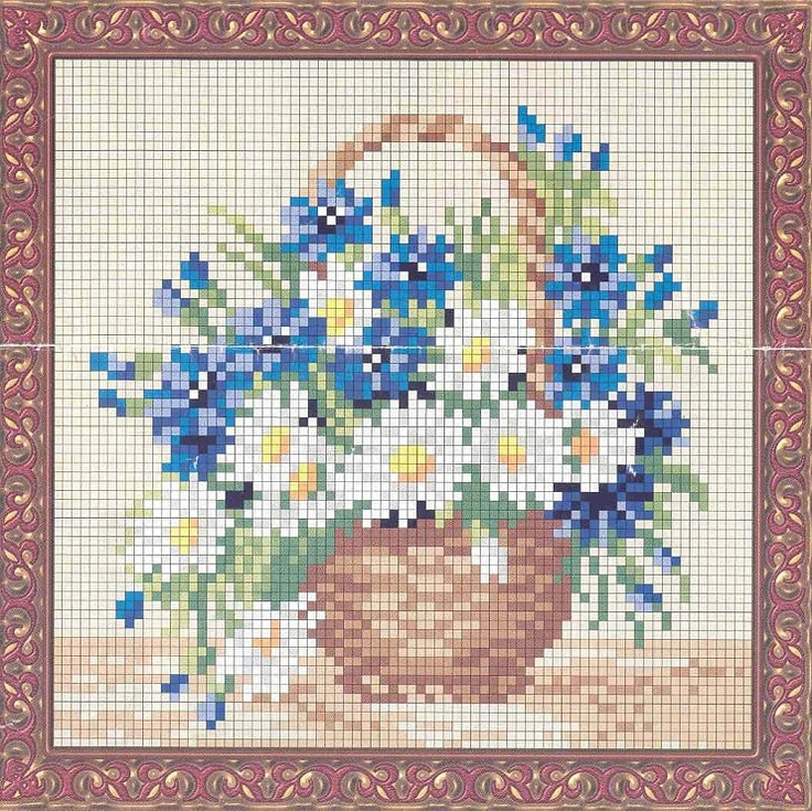 Flower Baskets Cross Stitch Charts : Best images about how nice on cross stitch
