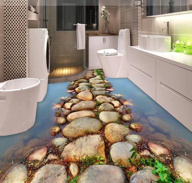 3d Bathroom Floor More
