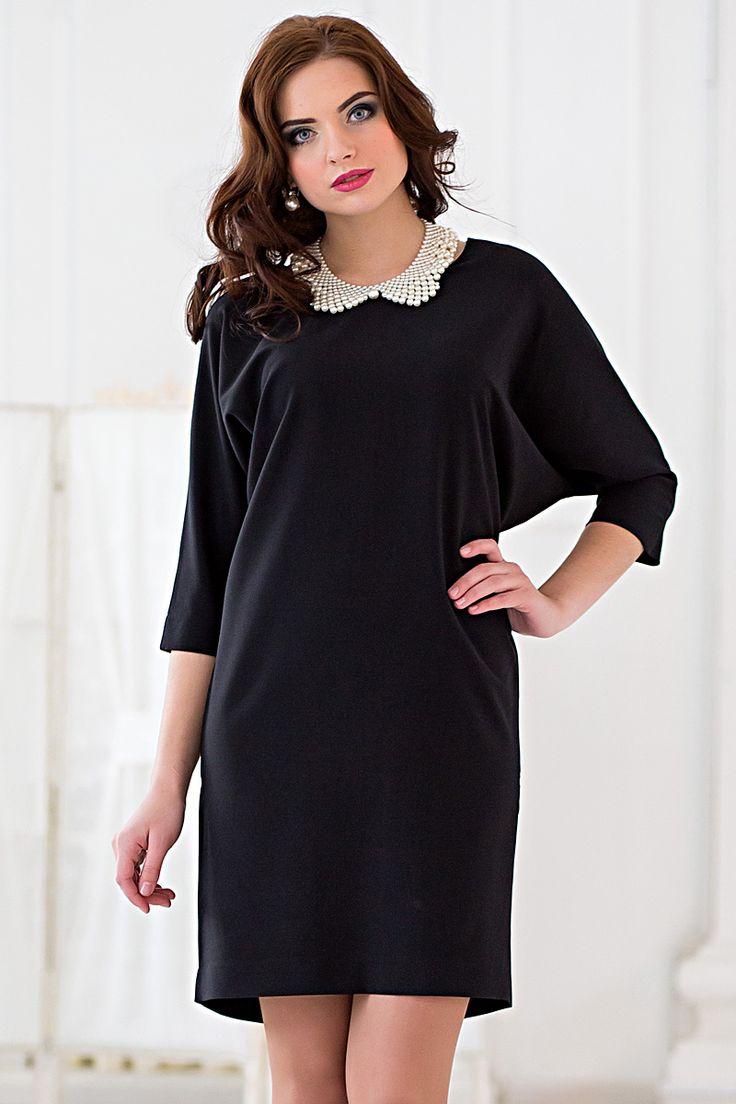 Трикотажное платье с воротничком в комплекте Филиграна-6145- - интернет-магазин Moda-nsk