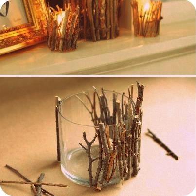 Portavelas, original y bonito, dale un tono rústico a una parte de tu casa