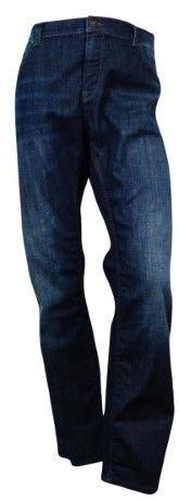 HUGO BOSS Men's Classic Fit Wash Jeans (Navy Blue, 40x32)