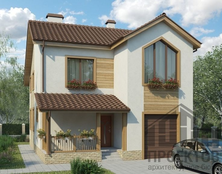Проект дома из блоков 10-2037