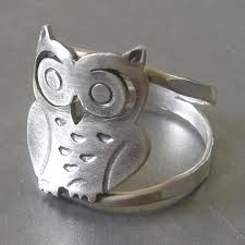 silver owl ring