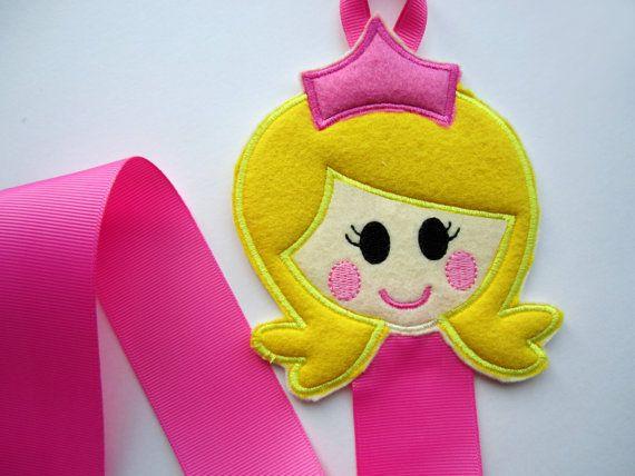 Princess Hair Clip Holder Sleeping Beauty Clip by babywhatknots, $7.25