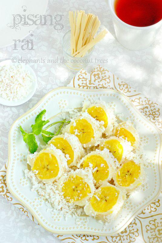 Pisang Rai / Steamed plantain with coconut / Balinese Cuisine #vegan #easysnack