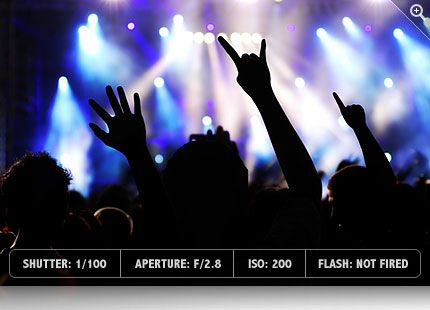 Useful concert photo tips! You know, because I go to so many shows and all.
