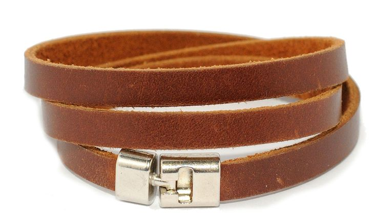 Bracciale in vera pelle uomo donna leather bracelet idea regalo MADE IN ITALY di RecordModa su Etsy