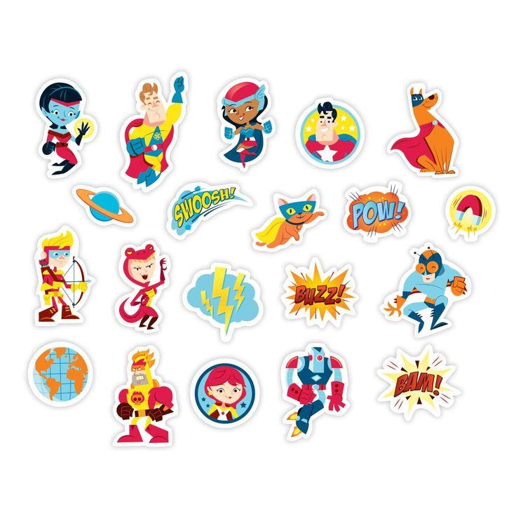 Superhero Box Of Magnets Box of Magnets Mudpuppy Mudpuppy