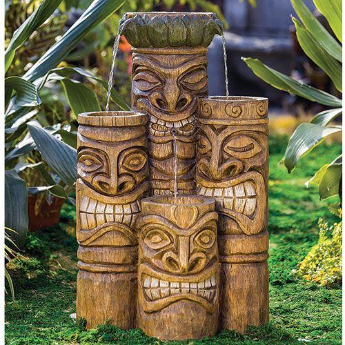 Smiling Tiki Face Fountain Tiki Pinterest Shops
