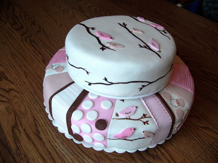 baby shower cakes for girls pink & brown - Bing Images