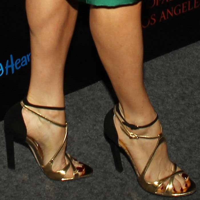 Juliette Lewis wearing Brian Atwood sandals