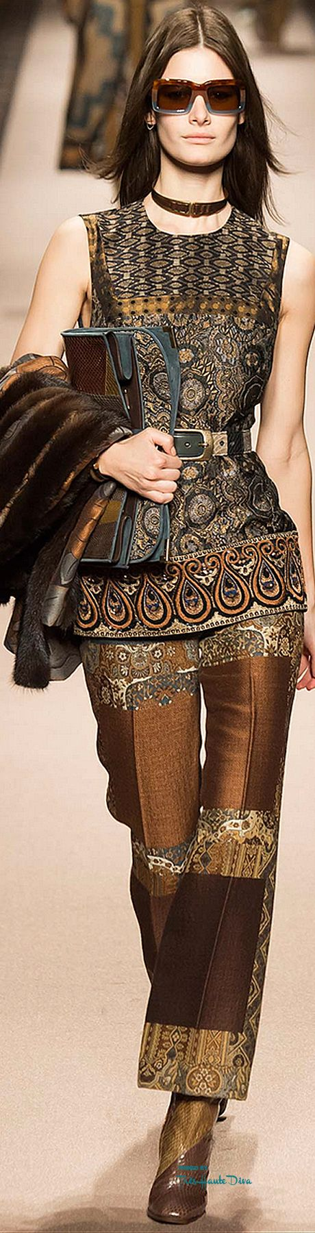 #MFW Etro Fall 2015 RTW ♔THD♔   Not sure about the pants but I love the top!   fall fashion 2015   www.endorajewellery.etsy.com