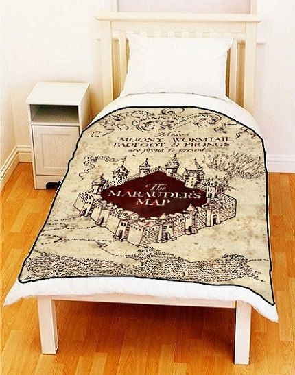 Fleece Blanket MARAUDERS MAP Harry Potter Fleece by ...