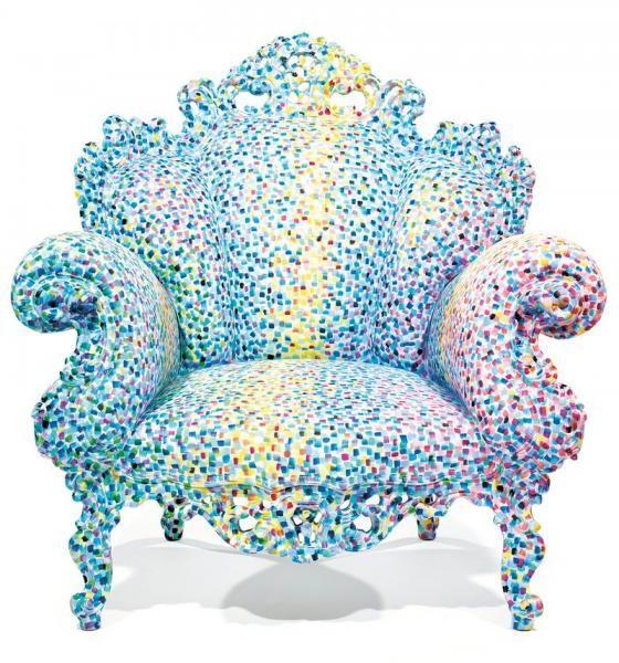 """ALESSANDRO MENDINI (NÉ EN 1931) & STUDIO MENDINI (éDITEUR) Spectaculaire fauteuil[...], mis en vente lors de la vente """"Arts Décoratifs du XXe siècle & Design"""" à Tajan   Auction.fr est 15000 /20000 €"""