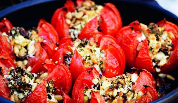 pascale naessens recepten -Tomaten met kruiden en feta