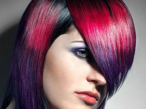 Two Color Hair Styles: Colores En Tonos Oscuros Para Chicas Con El Cabello Corto