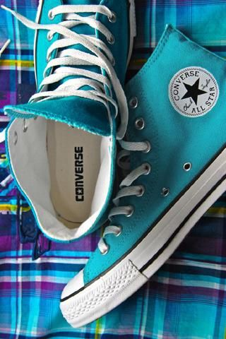 aqua.blue_.converse - I had these when I was a kid...memories