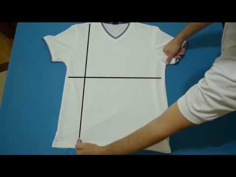 1 Dakikada tişört nasıl katlanır - YouTube