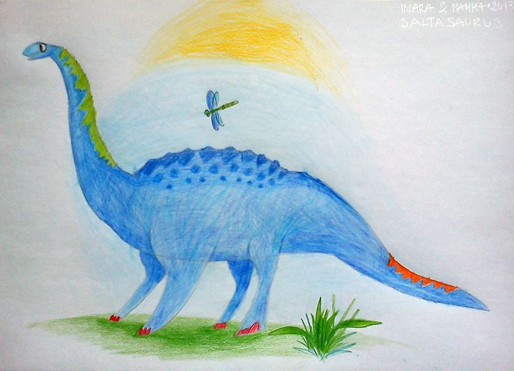 Diplodocus with a dragonfly