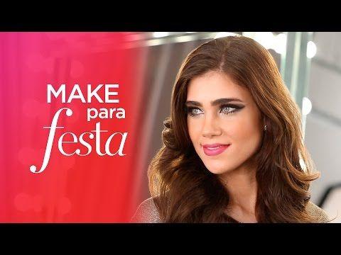 Maquiagem para festa com Kaká Moraes | Beleza na Web - YouTube