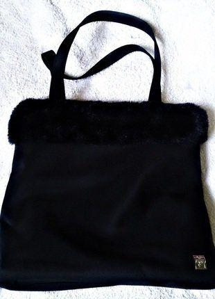 Kup mój przedmiot na #vintedpl http://www.vinted.pl/damskie-torby/torby-do-reki/17769572-lancome-czarna-torebka-futerko-wiazana